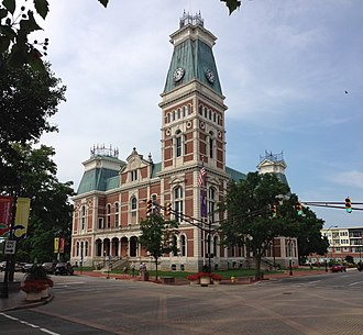 National Register of Historic Places listings in Bartholomew County, Indiana - Image: Bartholomew County Courthouse