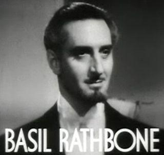 Basil Rathbone British actor