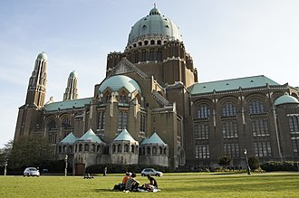 Basilica of the Sacred Heart, Brussels - Image: Basilica of the Sacred Heart from outside 1