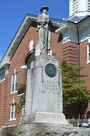 Bath County, Virginia - Image: Bath County war memorial