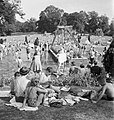 Bathing Pool- Entertainment and Relaxation in the Open Air, Guildford, Surrey, England, 1943 D15965.jpg