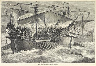 Battle of Sandwich (1217) - An 1873 illustration of the battle