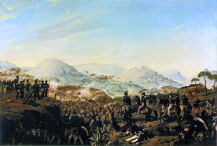 After the Napoleonic Wars, many years of turmoil took Portugal, which built up to colonial decline and the Liberal Wars. Battle of Ferreira Bridge.jpg