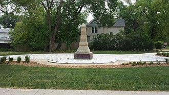 Battle of Seven Oaks - An obelisk monument to commemorate the battle was erected in 1891 at West Kildonan, a suburban neighbourhood of Winnipeg.