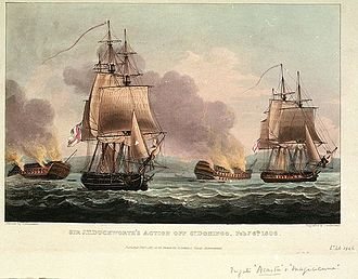 West Indies Campaign 1804–10 - Sir J.T. Duckworth's Action off San Domingo, Feb. 7 8th 1806, Thomas Whitcombe