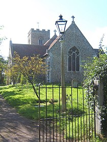 Baylham Church from the gateway - geograph.org.uk - 546402.jpg