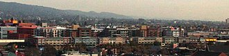 Bay Street Emeryville - A crop of a photograph of the mall as seen from the Emeryville Hilton Hotel