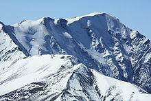 Il monte Bazardüzü visto dal monte Shahdagh