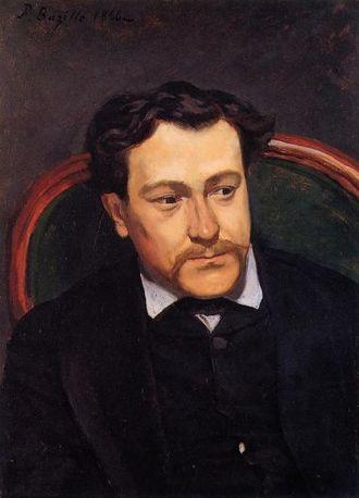 Édouard Blau - Frédéric Bazille: Portrait of Édouard Blau (1870).