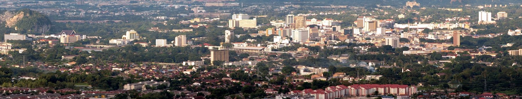 Panorama view of Ipoh