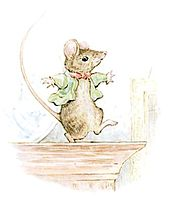 A mouse in a green coat dances
