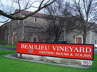 Beaulieu Vineyard - The estate architecture featured in its wine label
