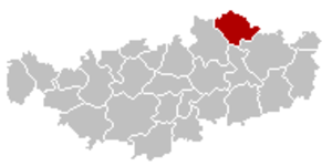 Beauvechain - Image: Beauvechain Brabant Wallon Belgium Map