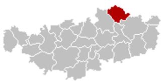 Beauvechain - Image: Beauvechain Brabant Wallon Belgium Map
