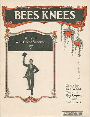 """Bees Knees"" sheet music cover, with..."