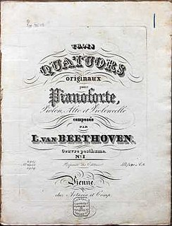 Piano Quartets (Beethoven)