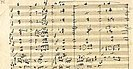 From Beethoven's autograph of his Ninth Symphony