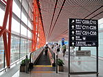 Beijing Capital International Airport Terminal 3 domestic departures moving walkway 20090818.jpg