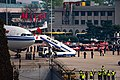Beijing Medical Assistance Team disembarking from CA042 at PEK (20200331150202).jpg