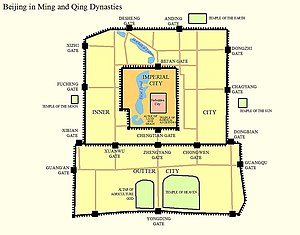 map of beijing in ming dynasty