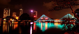 Colombo - The Beira Lake at night