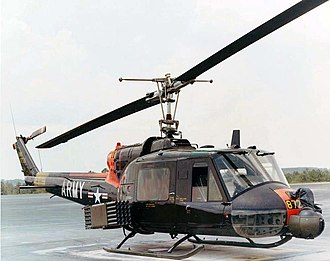 Bell UH-1 Iroquois variants - UH-1C with rockets and turret