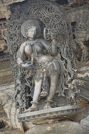 Salabhanjika - Image: Belur Temple Apsara with Mirror