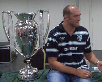 Ben Kay - Ben Kay with the Guinness Premiership trophy