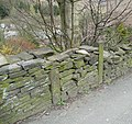 Bench mark, Birchencliffe Hill Road, Lindley - geograph.org.uk - 766386.jpg