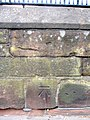 Bench mark on the City Walls in Nuns Road - geograph.org.uk - 1372349.jpg