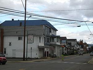 Benton, Columbia County, Pennsylvania - View north on PA 487 in Benton in October 2012