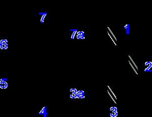 Benzotriazole - Image: Benzotriazole numbered