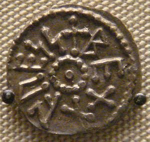 Beonna of East Anglia - Coin of Beonna, now in the British Museum
