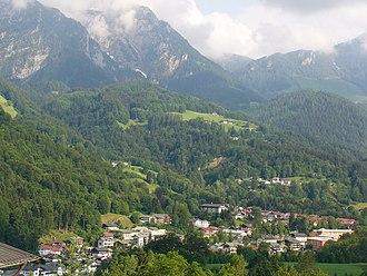 Berchtesgaden - Aerial view of Berchtesgaden