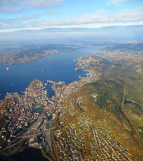 Bergen landdistrikt Former municipality in Hordaland, Norway