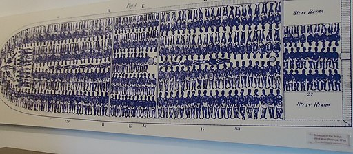 Bermuda (UK) image number 431 graphic depiction of how slaves were kept below decks