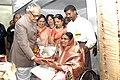Bhairon Singh Shekhawat felicitating the President of Helpers of the Handicapped, Kolhapur, Miss Naseema Hurzuk at the Golden Jubilee celebrations of the Fellowship of the Physically Handicapped in Mumbai.jpg