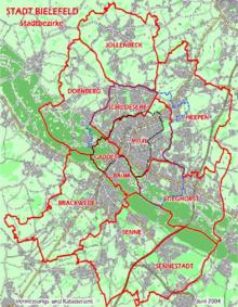 Carte Allemagne Bielefeld.Bielefeld Wikipedia