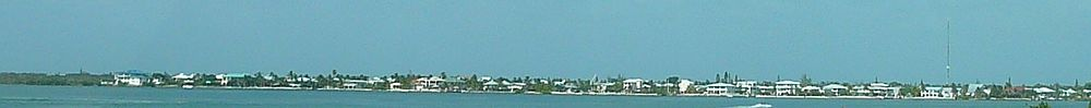 View of a portion of the west side of the island as seen from the Overseas Highway