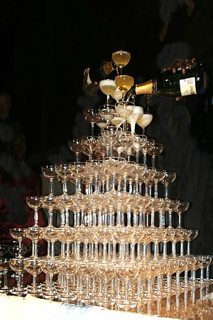 Champagne tower.