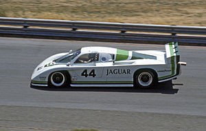 Jaguar XJR sportscars - A Jaguar XJR-5 at Sears Point in 1983