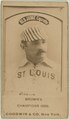 Bill Gleason, St. Louis Browns, baseball card portrait LCCN2008675140.tif