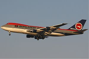 Biman Bangladesh Airlines - Boeing 747-200 leased by Biman from Kabo Air.