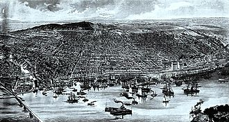 Montreal - The Montreal Harbour in 1889