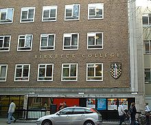 Birkbeck, University of London - Wikipedia, the free encyclopedia