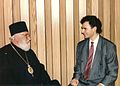 Bishop Irinej and Dejan Stojanovic.jpg
