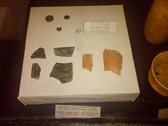 Sri Lankan Tamils - South Indian type black and red ware pot sherds found in Sri Lanka and dated to 1st to 2nd century CE. Displayed at the National Museum of Colombo.