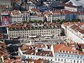 Blick auf Dom Joao I am Praca da Figueira (vom Castelo de São Jorge) (14005707811).jpg