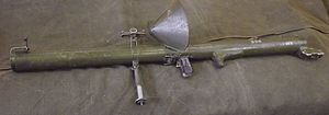 RL-83 Blindicide - Mecar Blindicide RL-83 with Belgian pattern face shield and monopod extended