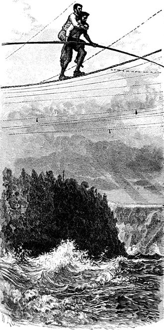 Charles Blondin - Image: Blondin Crossing the Niagara